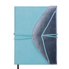 Ежедневник датированный 2019 BELLA, A5, 336 стр., мятный с серебром