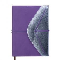 Ежедневник датированный 2019 BELLA, A5, 336 стр., лавандовый с серебром