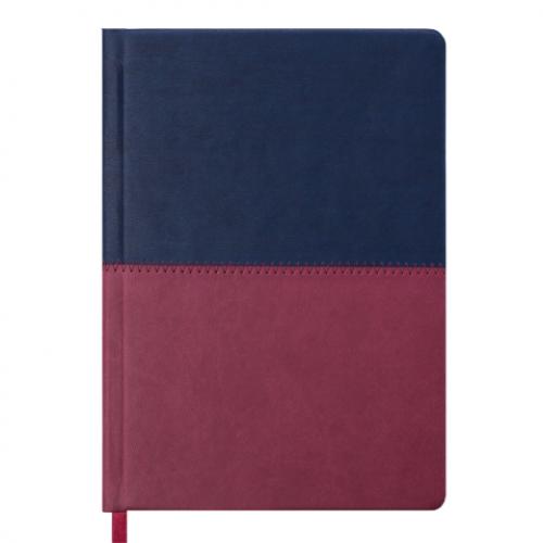 Ежедневник датированный 2019 QUATTRO, A5, 336 стр. синий + бордовый