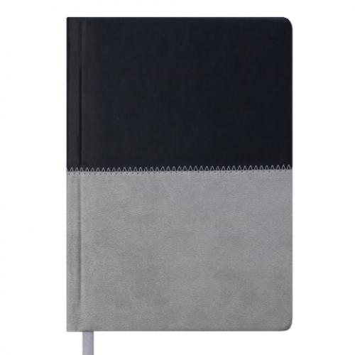 Ежедневник датированный 2019 QUATTRO, A5, 336 стр. черный + серый