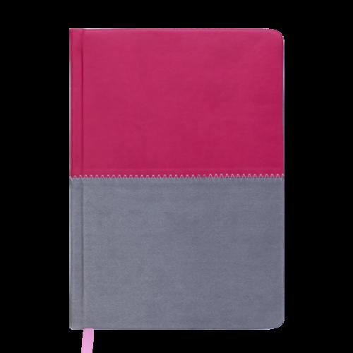 Ежедневник датированный 2019 QUATTRO, A5, 336 стр. розовый + серый