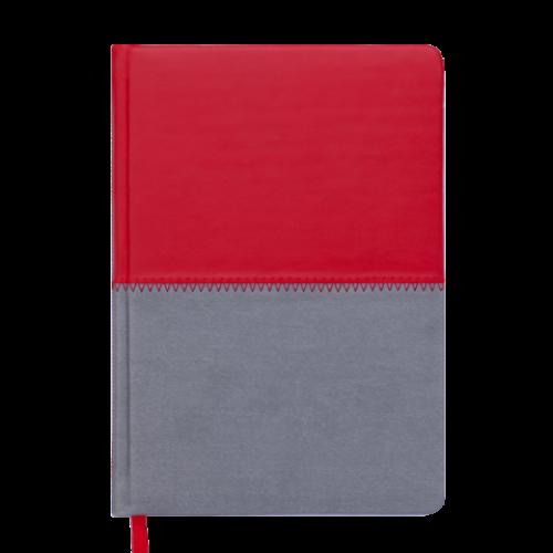 Ежедневник датированный 2019 QUATTRO, A5, 336 стр. красный + серый