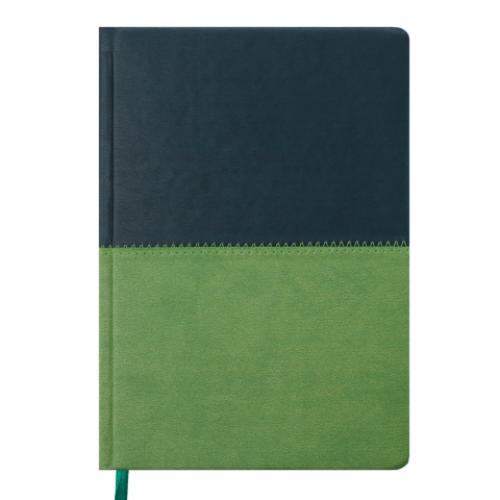 Ежедневник датированный 2019 QUATTRO, А5, 336стр. темно-зеленый + светло-зеленый