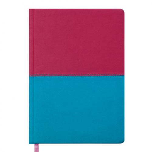 Ежедневник датированный 2019 QUATTRO, A5, 336 стр. розовый + бирюзовый