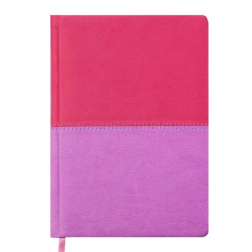 Ежедневник датированный 2019 QUATTRO, A5, 336 стр. розовый + сиреневый