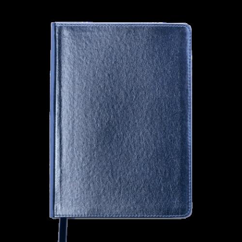 Ежедневник датированный 2019 METALLIC, A5, синий