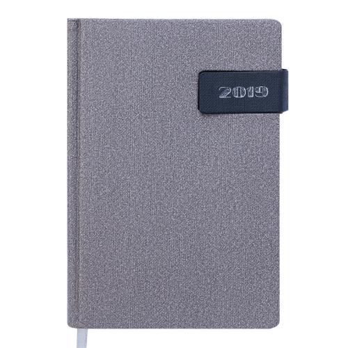 Ежедневник датированный 2019 WINDSOR, A5, 336 стр., серый
