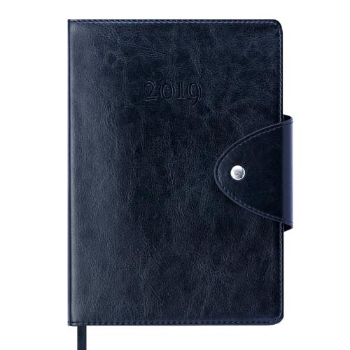 Ежедневник датированный 2019 BUSINESS, A5, черный