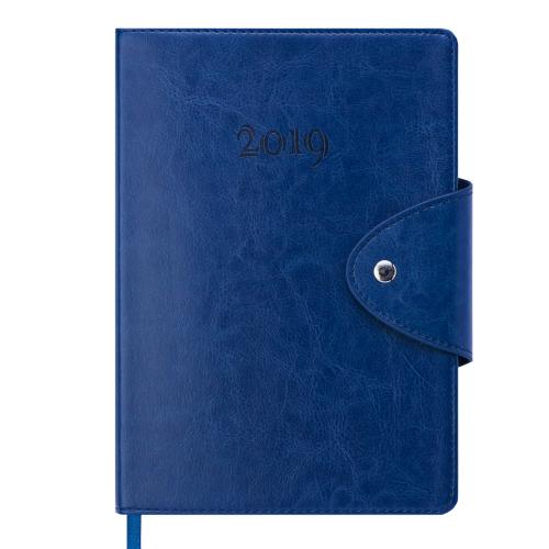 Ежедневник датированный 2019 BUSINESS, A5, синий