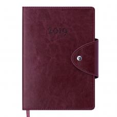 Ежедневник датированный 2019 BUSINESS, A5, бордовый