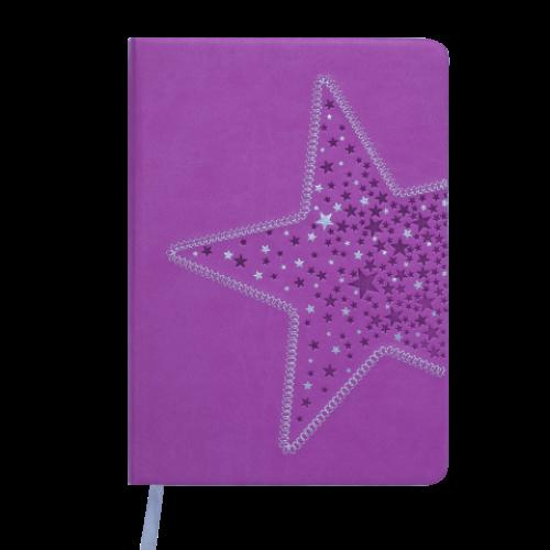 Ежедневник датированный 2019 STELLA, A5, 336 стр., фиолетовый