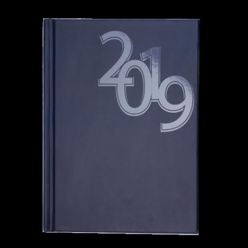Ежедневник датированный 2019 OFFICE, A5, синий