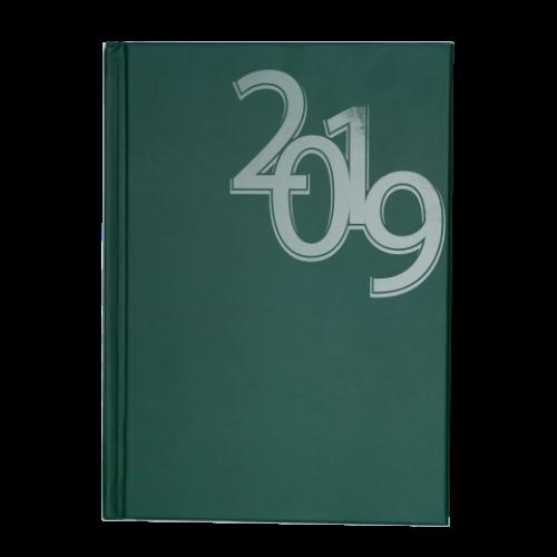 Ежедневник датированный 2019 OFFICE, A5, зеленый