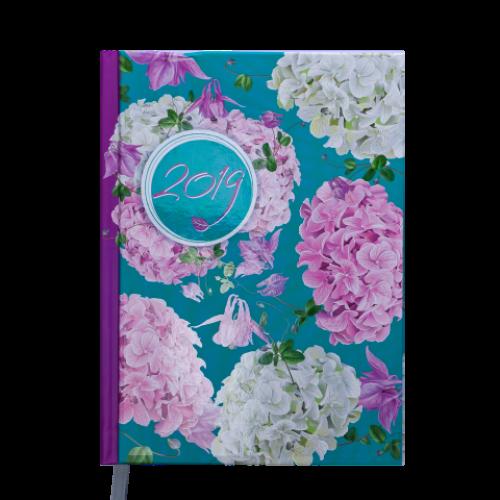 Ежедневник датированный 2019 ESTILO, A5, 336 стр., бирюзовый