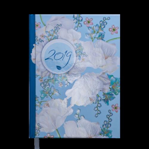 Ежедневник датированный 2019 ESTILO, A5, 336 стр., голубой
