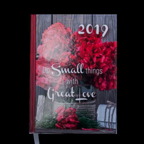 Ежедневник датированный 2019 ROMANTIC, A5, 336 стр., красный
