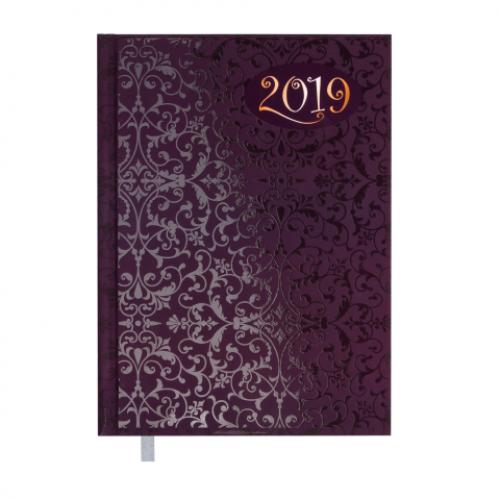 Ежедневник датированный 2019 VINTAGE, A5, 336 стр., фиолетовый
