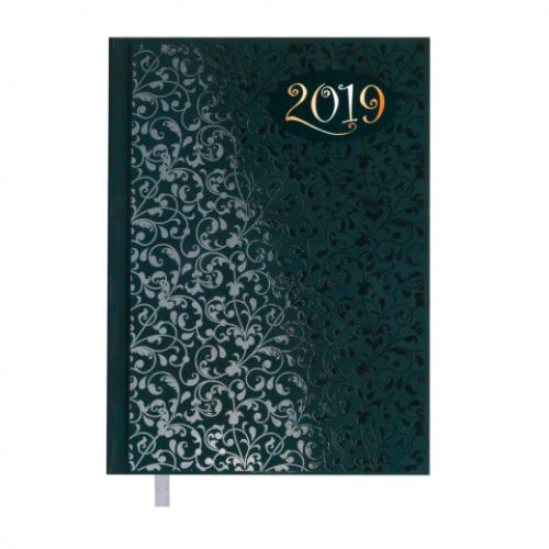 Ежедневник датированный 2019 VINTAGE, A5, 336 стр., т.-бирюзовый