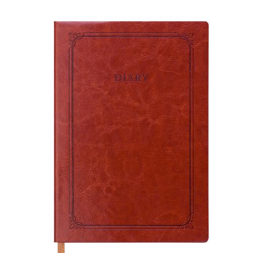 Ежедневник датированный 2019 SAGA soft, A5, 336 стр., коричневый