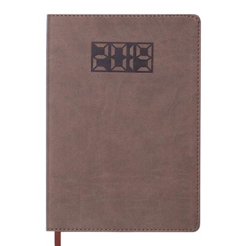 Ежедневник датированный 2019 PROFY, A5, 336 стр., коричневый