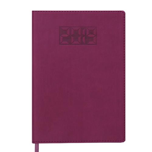 Ежедневник датированный 2019 PROFY, A5, 336 стр., темно-красный