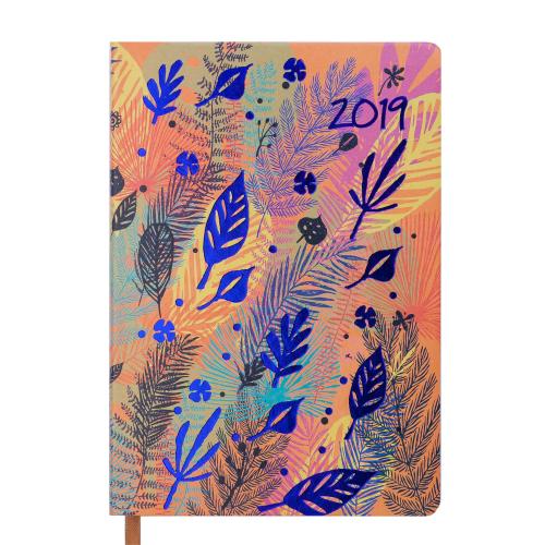 Ежедневник датированный 2019 CHERIE, A5, 336 стр., оранжевый