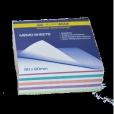 """Блок бумаги для заметок """"Зебра"""" JOBMAX 90х90х30мм, не склеенный"""