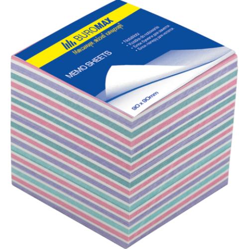 Блок бумаги ЗЕБРА 90х90х70мм, не склеенный