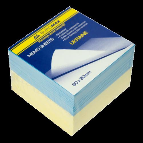 "Блок бумаги для заметок ""Украина"" 80х80х60мм, не склеенный"