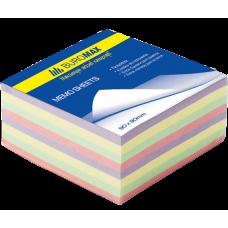 Блок бумаги ДЕКОР 90х90х40мм, не склеенный