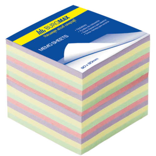 Блок бумаги ДЕКОР 90х90х70мм, не склеенный