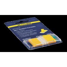 Закладки пластиковые POP-UP NEON, 45x25мм, 50 листов, желтый