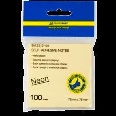 Блок для заметок NEON 76 x76мм, 100 листов, ассорти