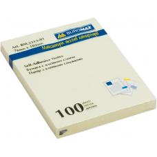 Блок бумаги для заметок 76 x 102мм, 100 листов, желтый