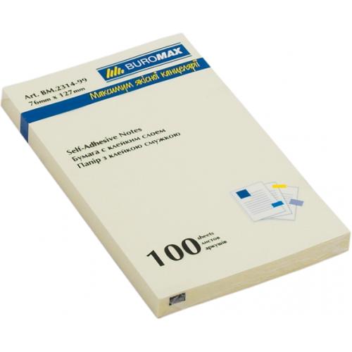 Блок бумаги для заметок 76 x 127мм, 100 листов, желтый