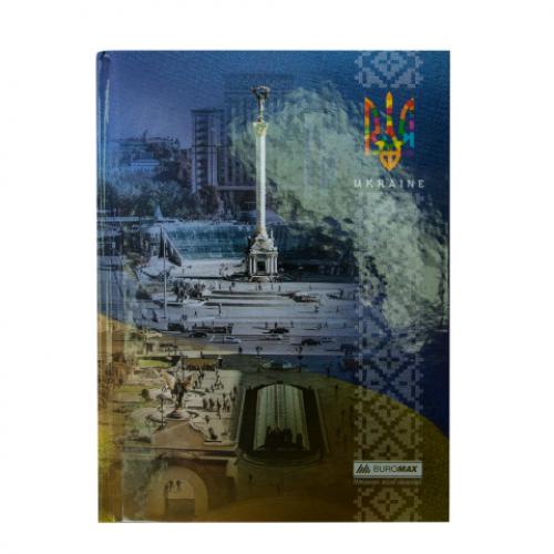 Блокнот UKRAINE, А-5, 96л., клетка, тв. картонная обложка, синий