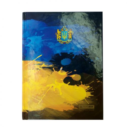 Блокнот UKRAINE, А-5, 96л., клетка, тв. картонная обложка, т.-синий