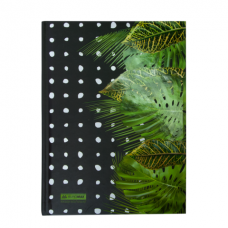Блокнот FLORISTICA, А-5, 96л., клетка, тв. картонная обложка, салатовый