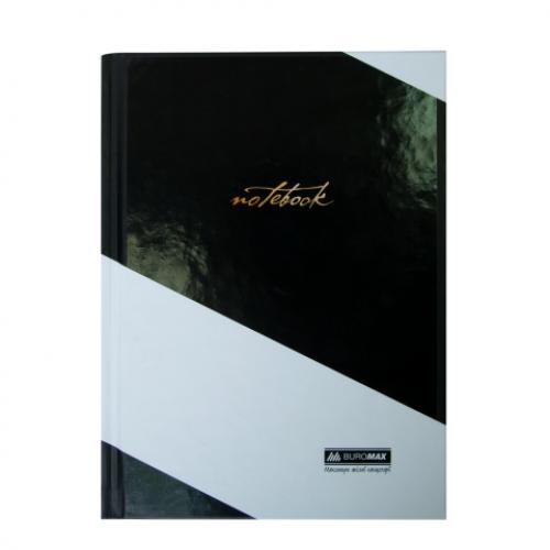 Блокнот INTENSO, А-5, 96л., клетка, тв. картонная обложка, черный