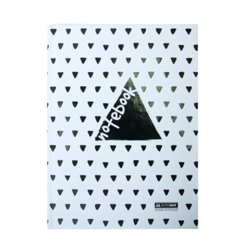 Блокнот INTENSO, А-5, 96л., клетка, тв. картонная обложка, белый