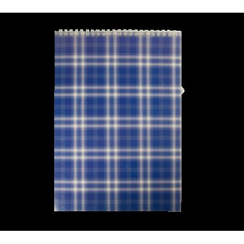 Блокнот на пружине сверху SHOTLANDKA, А4, 48 листов, клетка, синий