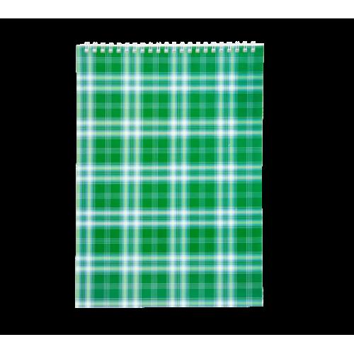 Блокнот на пружине сверху SHOTLANDKA, А4, 48 листов, клетка, зеленый