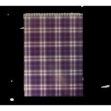 Блокнот на пружине сверху SHOTLANDKA, А4, 48 листов, клетка, фиолетовый