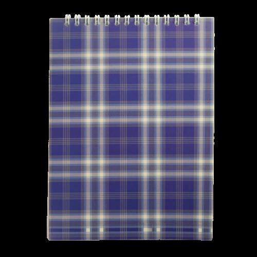 Блокнот на пружине сверху, А5, 48 листов, клетка, синий
