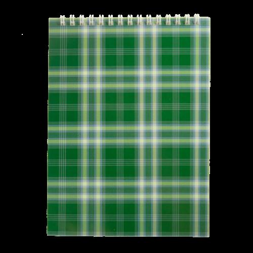 Блокнот на пружине сверху SHOTLANDKA, А5, 48 листов, клетка,зеленый