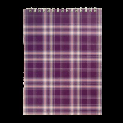 Блокнот на пружине сверху SHOTLANDKA, А5, 48 листов, клетка, фиолетовый