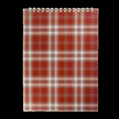 Блокнот на пружине сверху SHOTLANDKA, А5, 48 листов, клетка,бордовый