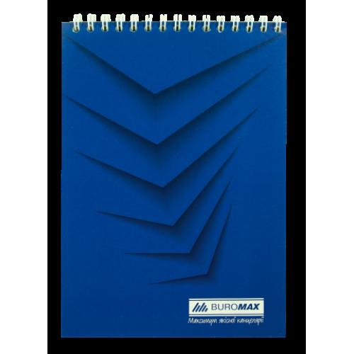 Блокнот на пружине сверху MONOCHROME, А5, 48 листов, синий