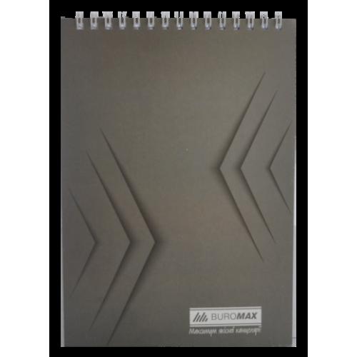 Блокнот на пружине сверху MONOCHROME, А5, 48 листов, серый