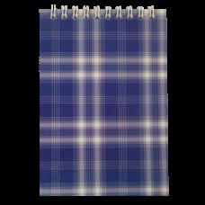 Блокнот на пружине сверху SHOTLANDKA, А6, 48 листов, клетка, синий